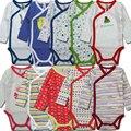 Primavera Peças de Roupas Das Meninas Dos Meninos 100% Algodão Abertura Lateral Completa Mangas Bodysuit Do Bebê Recém-nascido Macacão Macacão Infantil
