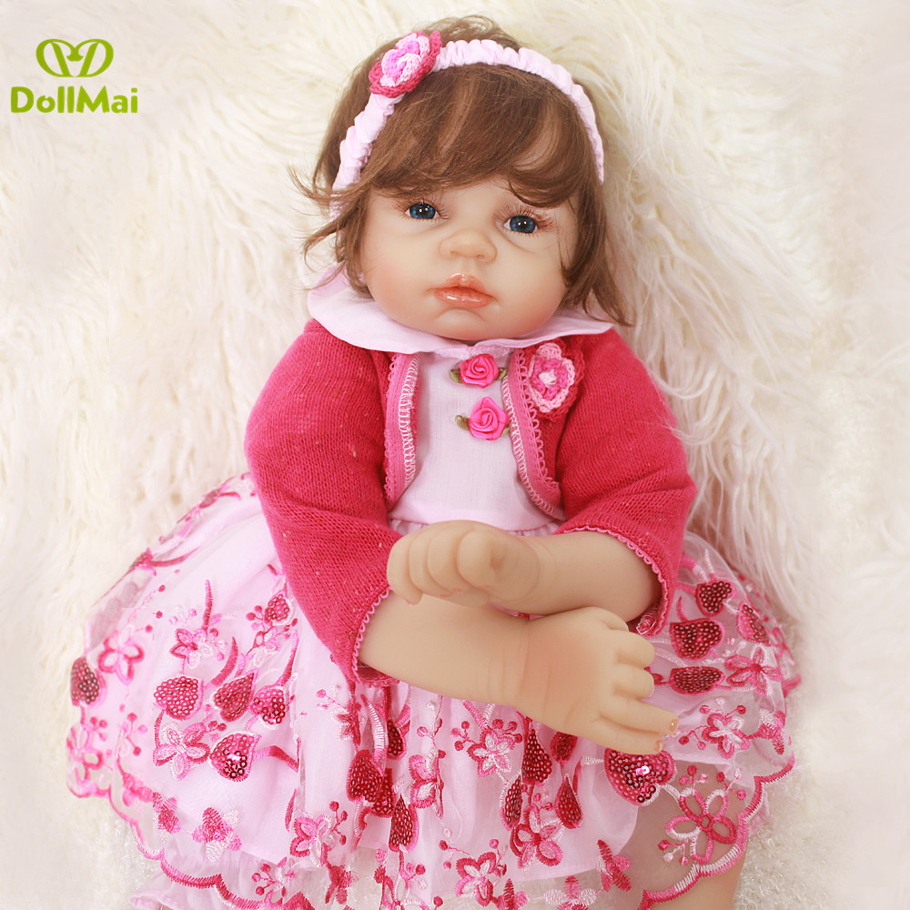Boutique doll Bebes reborn 22inch 55cm soft body silicone reborn baby doll newborn girl baby alive real doll toys gift for chilBoutique doll Bebes reborn 22inch 55cm soft body silicone reborn baby doll newborn girl baby alive real doll toys gift for chil