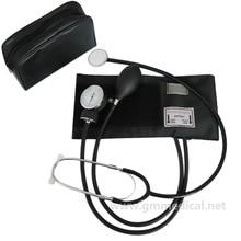 Aneroid Sphygmomanometer Adult Manual Blood Pressure Cuff with Single Head Stethoscope цены онлайн