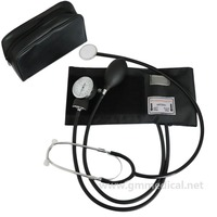 Aneroid Sphygmomanometer Adult Manual Blood Pressure Cuff with Single Head Stethoscope