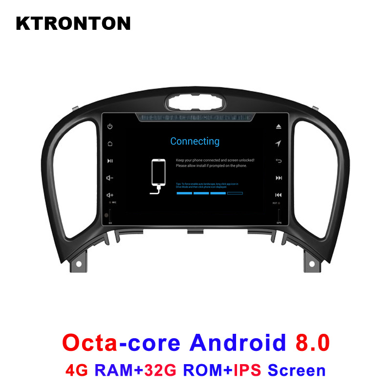 Latest 4GB RAM 32GB ROM Octa-Core Android 8.0 Car DVD GPS Player for NISSAN JUKE 2017 with Radio BT Wifi DVR IPS Screen