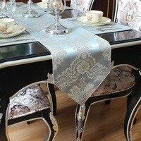 Blau Mahagoni Jacquard Tisch Läufer Europäischen Stil Tisch Flag Home Wohnzimmer Kaffee Tisch Schrank Bett Decor Zubehör ZM238-in Tischläufer aus Heim und Garten bei