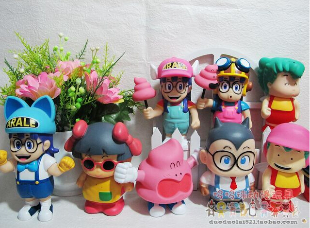 Hot Anime 10-15cm 9pcs/set Dr.Slump Arale Anime Cartoon Action Figures PVC brinquedos Collection Figures toys christmas gift hot sale 26cm anime shanks one piece action figures anime pvc brinquedos collection figures toys with retail box free shipping