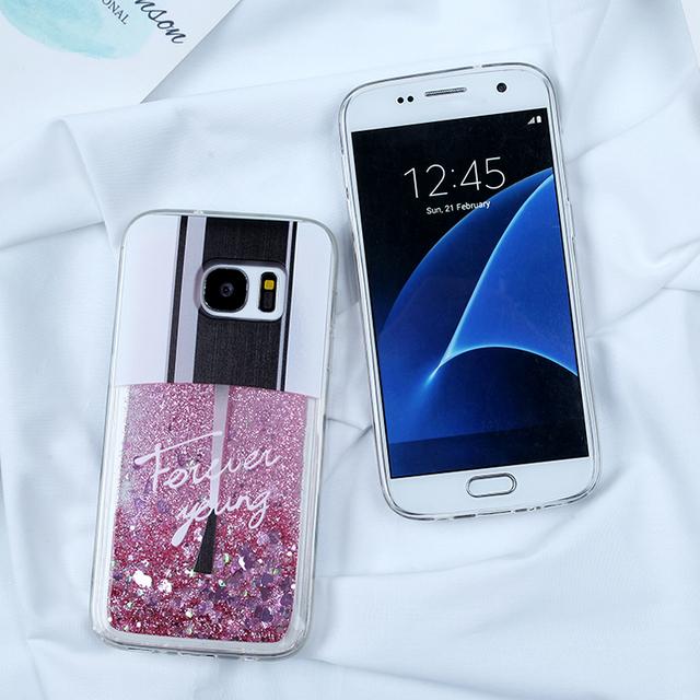Liquid Glitter Dynamic Cases For Samsung Galaxy S7 Edge S8 S9 S10 Plus A5 2017 A8 Plus A7 2018 J5 J7 J3 2016 A3 A5 A7 2017