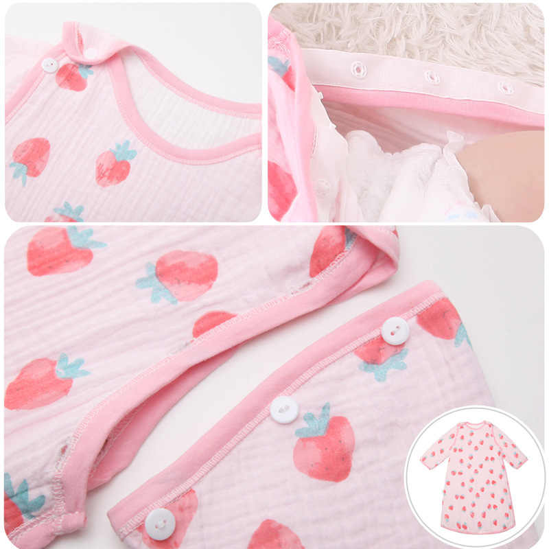 Primavera delgada de verano muselina botón bebé niños bolsa de dormir de chico bebé saco de dormir pañal capullo para recién nacido manta suéter
