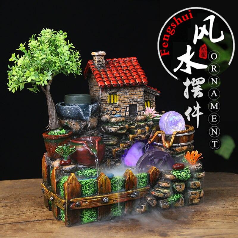 เรซิ่นน้ำพุ Feng Shui เครื่องประดับ Atomizer ประดิษฐ์น้ำมันหอมระเหย 1721 ในร่ม Air Humidifier Home คริสต์มาสตกแต่ง-ใน รูปแกะสลักและรูปจำลอง จาก บ้านและสวน บน AliExpress - 11.11_สิบเอ็ด สิบเอ็ดวันคนโสด 1