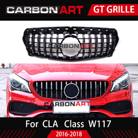 CLA W117 GT R стиль решетка для Mercedes Передняя решетка для CLA класс Mercedes Benz W117 C117 CLA200 220 CLA260 300 AMG 2016 2018