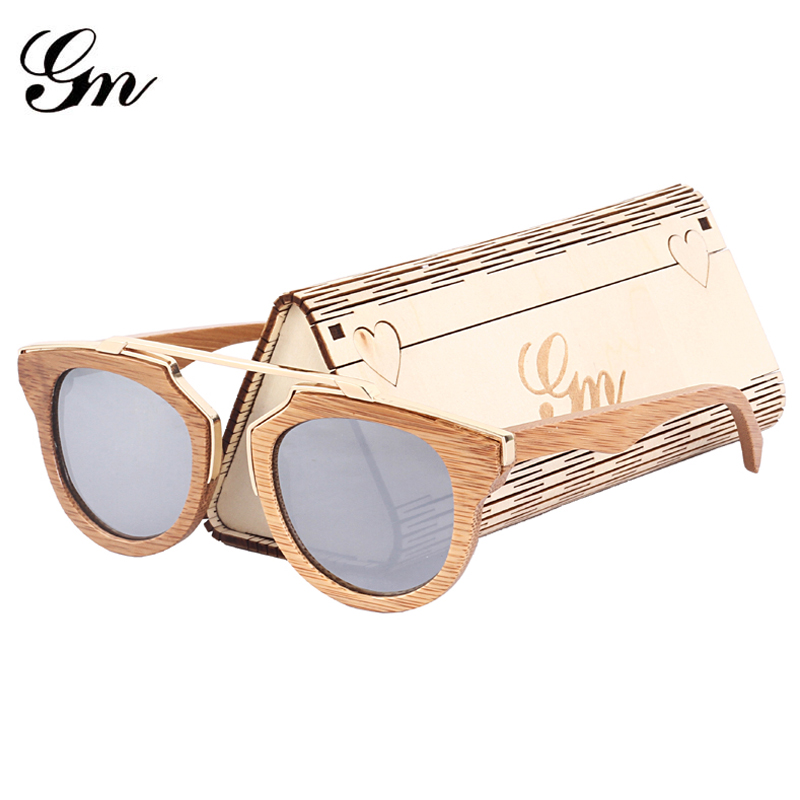 eb0f758c90 G M Bamboo And Wood Vintage Sunglasses For Men Women