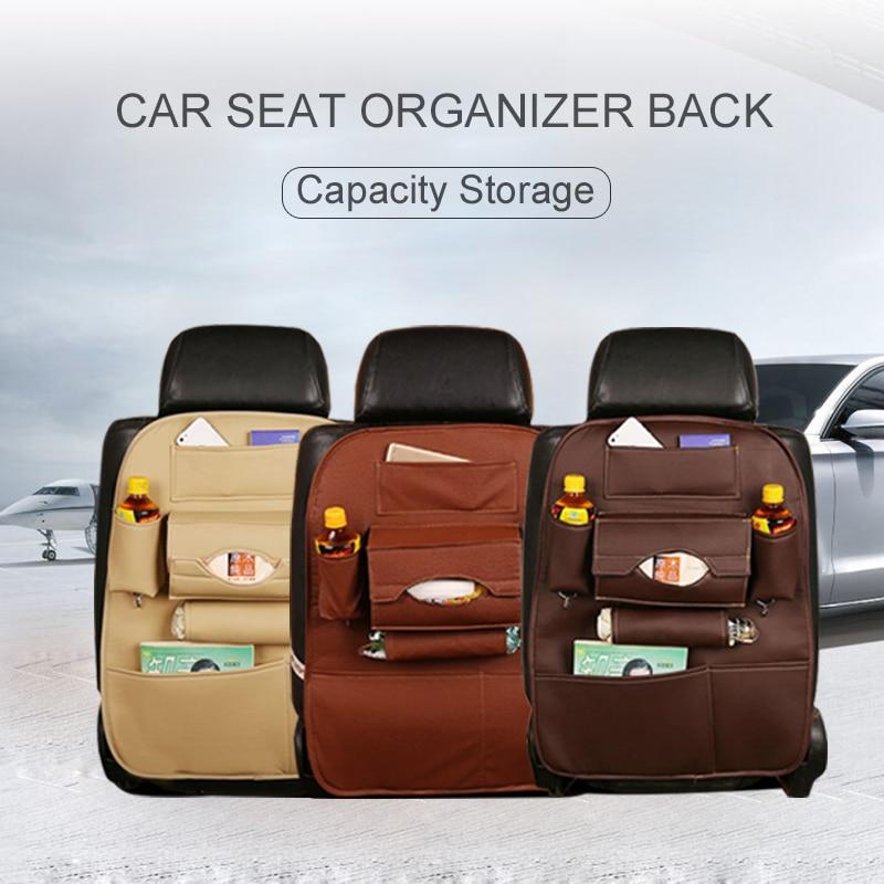 Car Back Seat Organizer Multi-Pocket Travel Storage Hanging Bag Diaper Bag Baby Kids Auto Accessories Rangement Voiture
