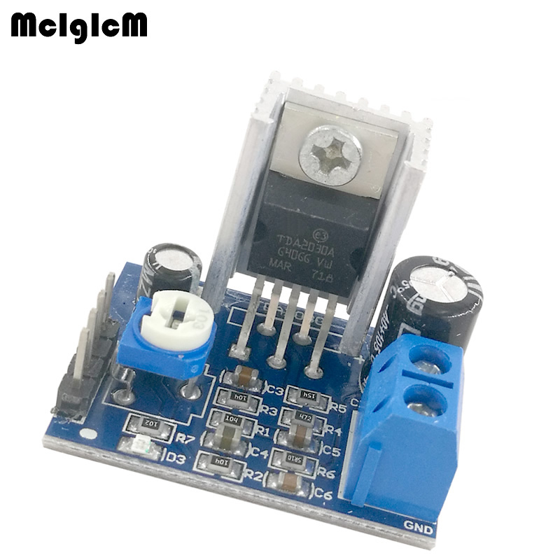 MCIGICM 100pcs 6-12V Single Power Supply TDA2030A Audio Amplifier Board Module Hot sale