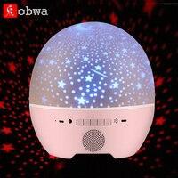 Portátil Sem Fio Bluetooth Speaker ovo de Páscoa da sharp Estrela Rotação Céu luz Do Projetor Com Controle Remoto usb Mini speaker