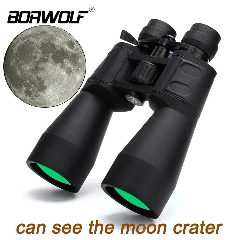 Borwolf 10-380X100 alta magnificación de largo alcance de zoom de 10-60 veces caza telescopio binoculares HD profesional de Zoom