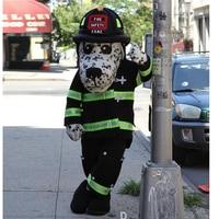 Ohlees מותאם אישית נקניקיות NYC בטיחות אש לאבזרי חג ליל כל הקדושים חליפת ראש קמע תלבושות בעלי החיים תלבושות תלבושת