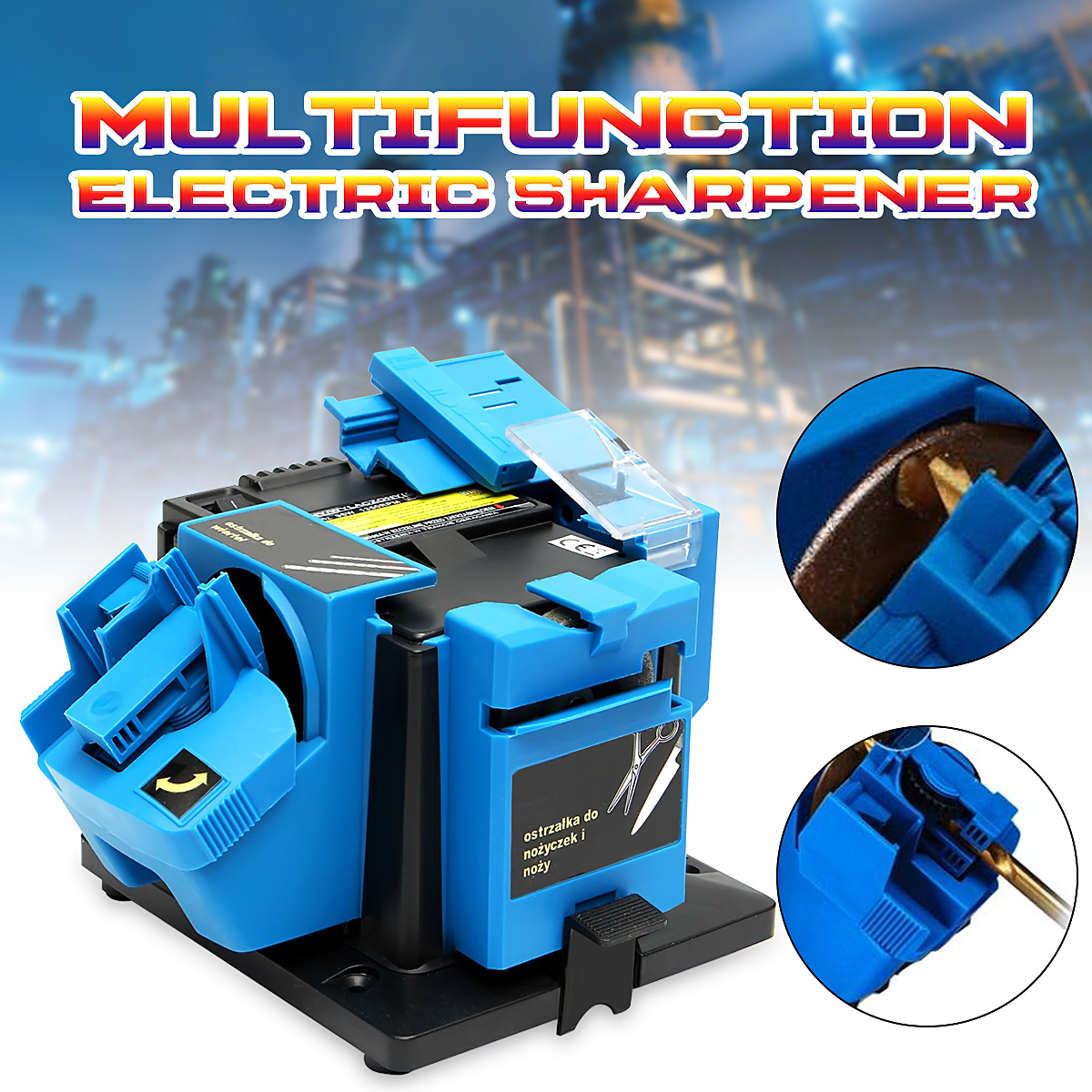 Electric Household Sharpener Tool Drill Bit Knife Scissor Sharpener Grinder 96w 220V Electric Grinder Plane Sharpener 3 12mm 220v electric multi tool grinding machine twist drill bit sharpener grinder