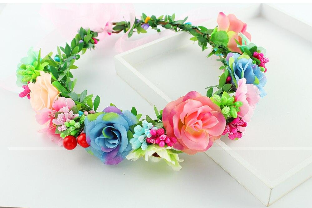 Sweet Girl hairband artificial flower headband hair ornaments honeymoon party photography wreath bride wedding accessories