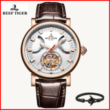 Reef Tiger/RT Luxury Brand Automatic Watch for Men Fashion Sport Waterproof Leather Wechanical Watch Relogio Masculino RGA1950