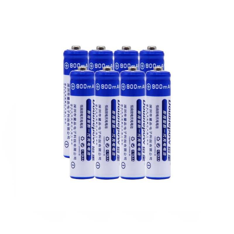 8pcs/Lot Doublepow DP-AAA900mAh 1.2V Ni-MH Rechargeable Battery in Actual High Capacity of 900mA Battery Cell FREE SHIPPING