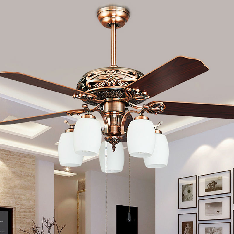 fashion vintage ceiling fan lights european style fan lamps bedroom dinning room living room fan. Black Bedroom Furniture Sets. Home Design Ideas