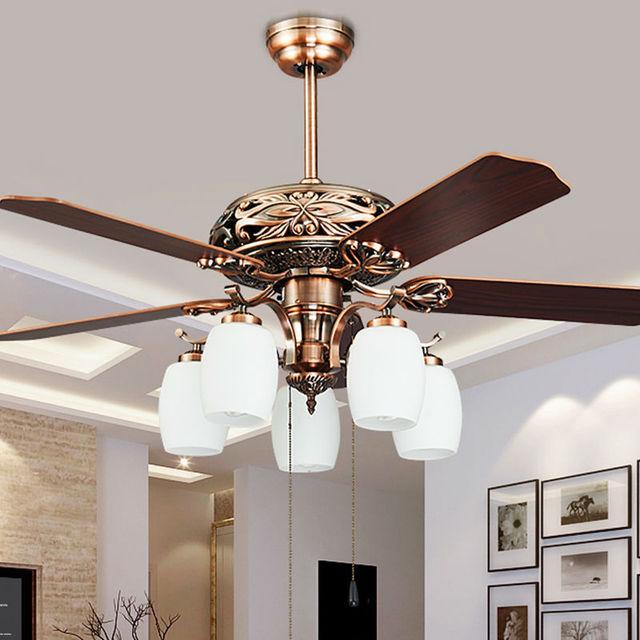 Fashion Vintage Ceiling Fan Lights European Style Fan