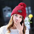 2016 Velvet Warm Knitted Hat Women Winter Hat For Women Hat Fashion Warm Skullies Beanies Female Cap Free Shipping
