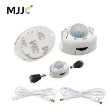 Interruptor de luz de sensor de movimento, 5v 12v dc, temporizador ativado do detector, interruptor automático, tiras desligadas, luz de led sensor de movimento pir
