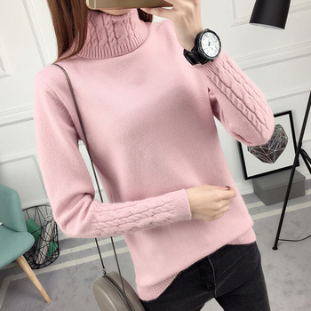 Warm Knitting Sweaters And Pullovers For Women autumn Winter Casual Turtleneck Knitwear Female Jumper 2018 Women Sweaters Tops