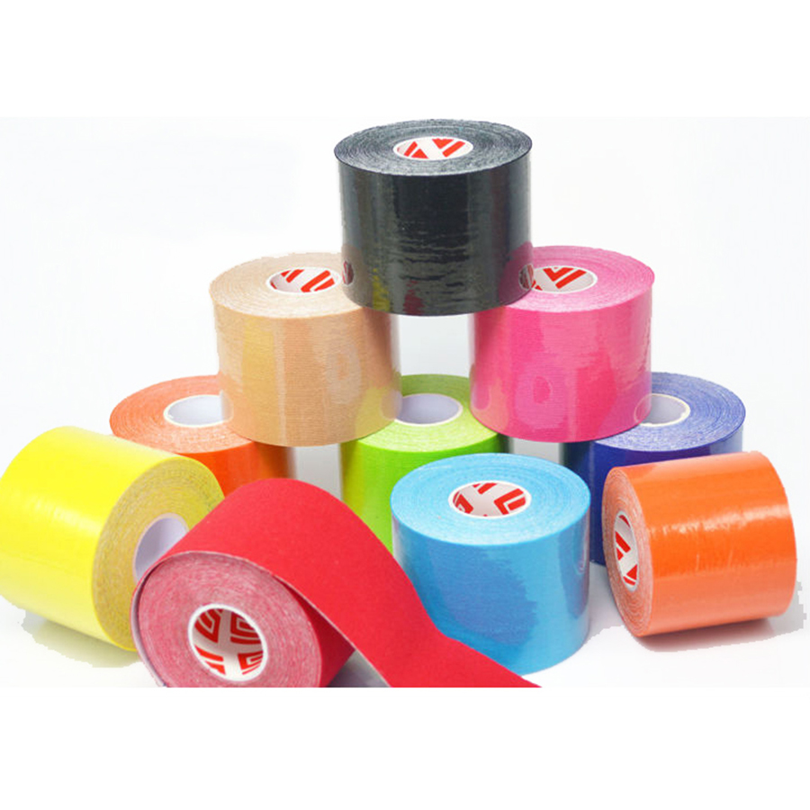 Kinesiology  Tape 5cm x 5m Roll Cotton Elastic Adhesive Muscle Sports Tape Bandage Physio Strain Injury Support  knee pads