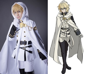 New Anime Seraph of the End Hyakuya Mikaera Cosplay Army Uniform wCloak Halloween Costumes for Women Mens Carnaval Disfraces guardians of the galaxy vol 2 baby groot 3