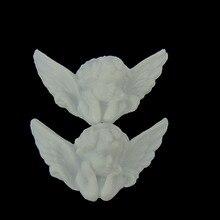 12 sztuk biały plastik skrzydła anioła dziecko anioł wisiorki z koralikami dla niemowląt tworzywa sztucznego anioł w Party DIY dekoracje 32x50mm
