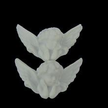 12pcs לבן פלסטיק כנף מלאך תינוק מלאך חרוזים קסמי עבור תינוק פלסטיק מלאך מסיבת DIY קישוטי 32 x 50mm