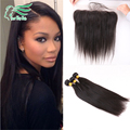 Ear To Ear 13*4 Lace Frontal Closure With Bundles Malaysia Virgin Hair 4 Bundles With Closure No Tangle No Shed Can Be Dyed