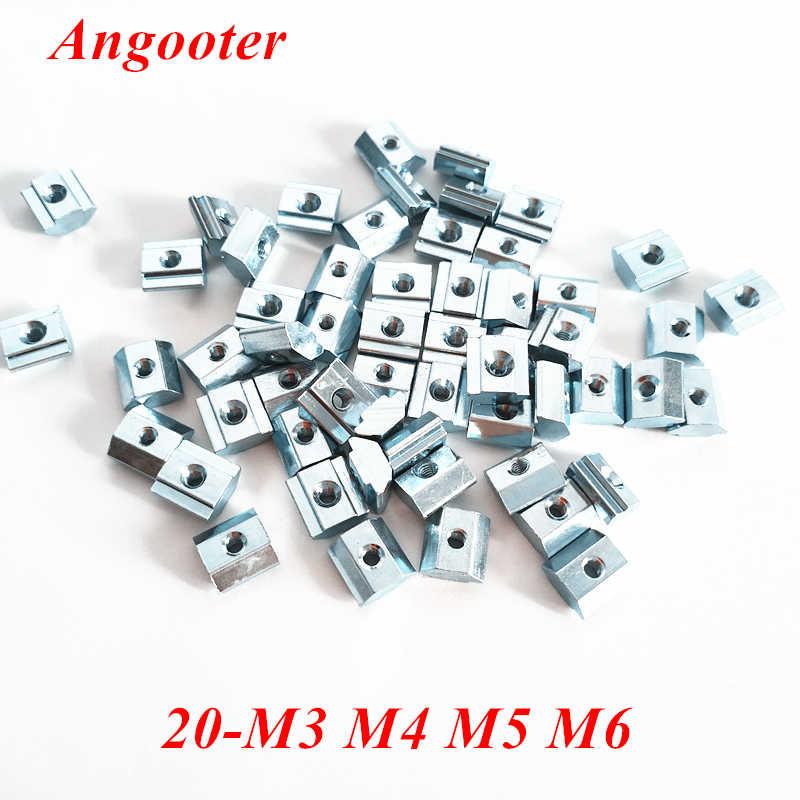 serie 20 M3 x 10 x 5 50 tuercas deslizantes en T de acero al carbono para accesorios de perfil de aluminio