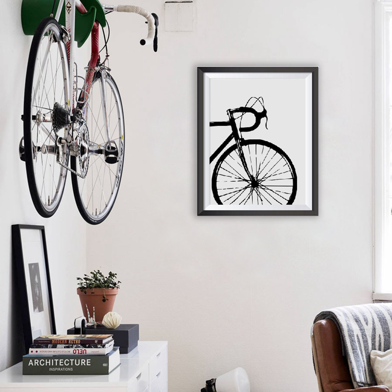 Bicycle Motivational Art Cycling Canvas Painting  1
