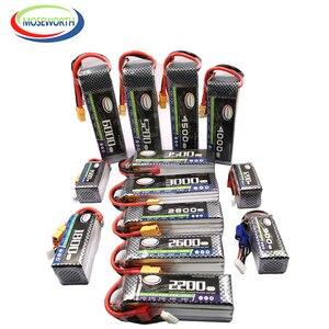 Image 3 - 4S 14.8V RC Auto Batteria LiPo 1300 1800 2200 2600 3300 4500 6000mAh 30C 40C60C Per RC aereo Drone Elicottero Batterie LiPo 4S