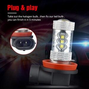Image 3 - NAO H11 led 9005 HB3 9006 HB4 fog lights H8 H10 12V 16SMD CREE Chip DRL 1600lm Car LED H9 80W Auto Bulb 6000K White Lamp