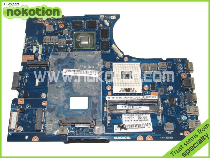 NOKOTION QIWY4 LA-8002P Laptop Motherboard for lenovo Y580 Intel HM76 N13E-GE-A2 DDR3 mainboard DDR3 nokotion laptop motherboard for lenovo g570 la 675ap mainboard intel hp65 ddr3 socket pga989
