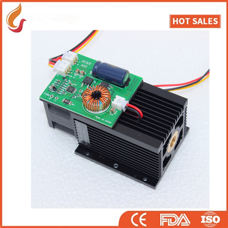 Free shipping 15w high power <font><b>laser</b></font> engraving <font><b>laser</b></font> module 450nm blue <font><b>laser</b></font> head <font><b>15000mw</b></font> <font><b>laser</b></font> engrave machine mark on metal image