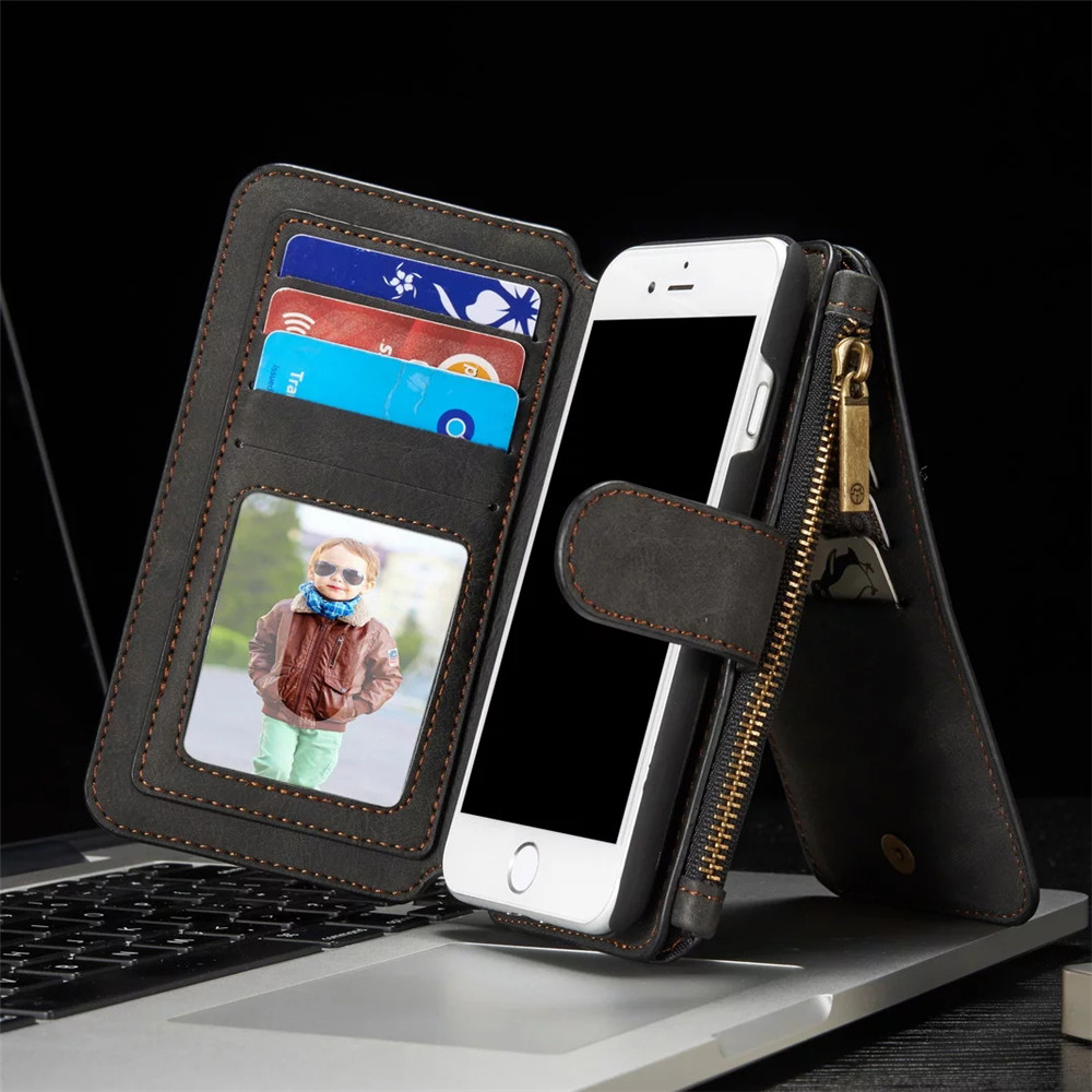 Leather Case for iphone X 8 7 6 6S Plus 5S 5 SE Luxury Wallet Cover for Samsung Galaxy S9 S8 Plus S7 S6 Edge Note 8 Cases