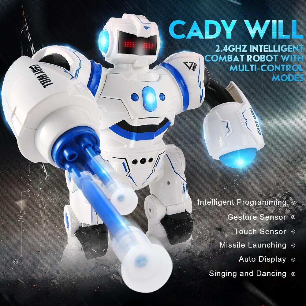 JJRC R3 RC Robot Toy Intelligent Programming Dancing Gesture Sensor Control Blue Red for Children Kids Birthday Gift Present