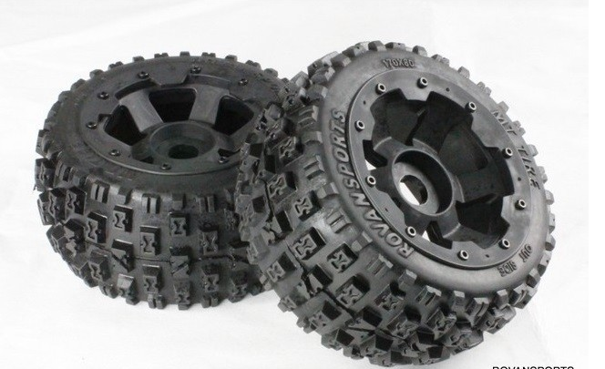 Rear  knobby wheel set  For 1/5 HPI Baja 5B 5T 5t knobby wheel set for 1 5 hpi baja 5t