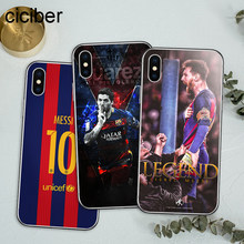 ciciber Football Soccer Barcelona Messi Suarez Rakitic Soft Silicon Phone Cases Cover For iPhone Case 7 6 8 6s Plus X Fundas(China)