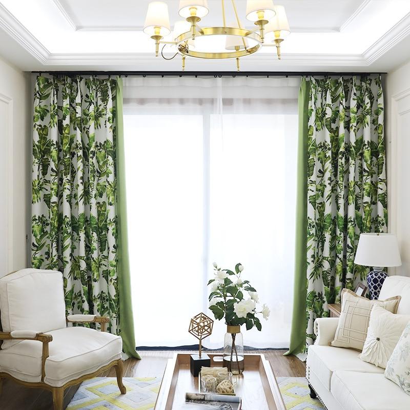 aliexpresscom buy mediterranean high shade printing vertical curtains idyllic green bedroom curtains childrens curtains living room home curtains from - Green Bedroom Curtains