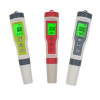 Digital Tester Pen PH Meter 0.01 PH TDS EC TEMP Meter High Accuracy 4 in 1 Multi parameterWater Monitor With Backlight 20%off
