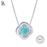 SILVERAGE 925 Sterling Silver Jewelry For Women Lucky Clover Pendant Necklace Mother S Day Free Shipping