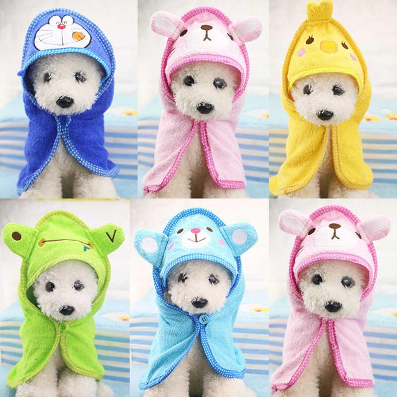 Cute Pet Dog Cat Towel Soft Drying Bath Pet Towel For Dog Cat Hoodies Puppy  Super Absorbent Bathrobes Pet Dog Cleaning Supplies