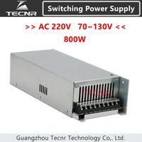 Switching Power Supply 800W input AC 220V output DC 0 70V 80V 100V 110V 130V transformer for cnc engraving machine