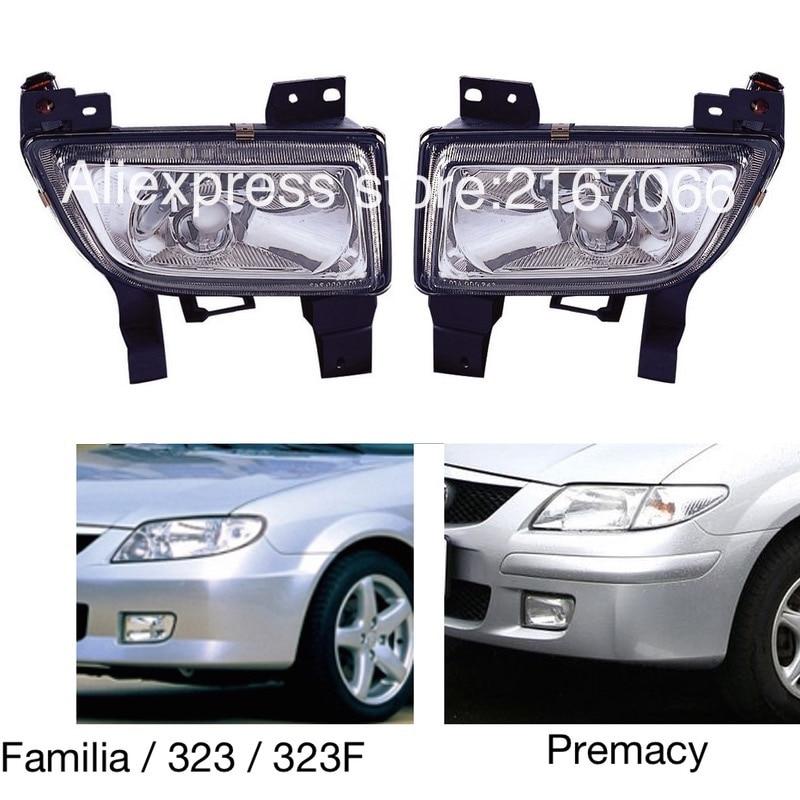 fog lights on Mazda 323 - Fog Lights fits Mazda 323 F, Familia 1998 1999 2000 2001 2002 2003 2004, Premacy 1998 - 2001 Driving Lamps Pair