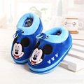Winter Casual warm children shoes Thick Kids Home Shoes Child's Slippers Leather Boys Girls Shoes Genuine CHW005