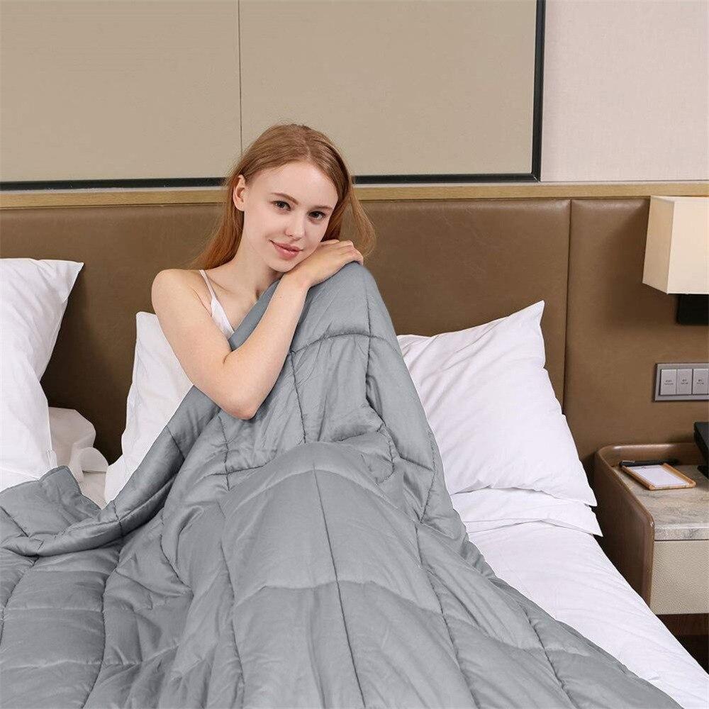 Couverture pondérée taille 36 ''x 48'' 5lb réduire le Stress favoriser le sommeil profond été Ventilation couverture Plumon Cama couette