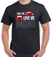 Love Me Love My Mini-Mens T-Shirt Clubman Roadster Cooper John Lavori di Disegno 2